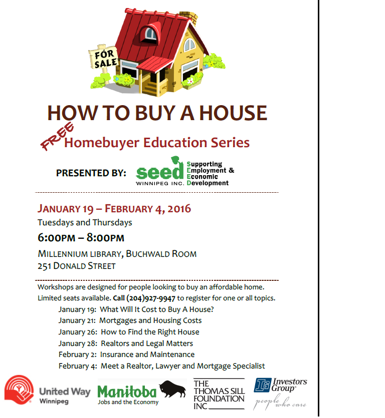 Homebuyer education workshops poster